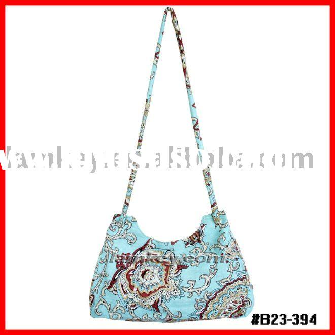 2011 fashion design 100% cotton lady handbag wholesale