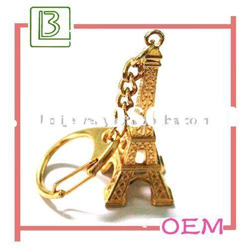 2011 metal Eiffel Tower shaped keychains holder