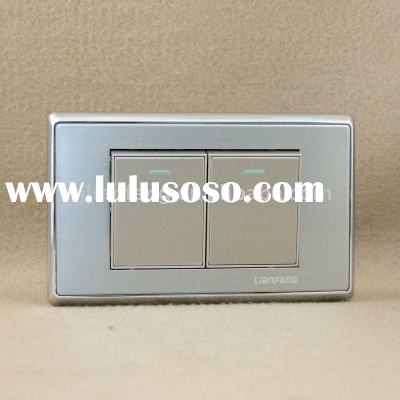 2011 new design steel plate wall switches