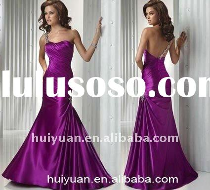 2011 new one shoulder purple mother of the bride dresses