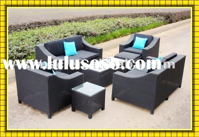 2012 Factory hot sale modern deaign high quality low cost outdoor wicker sofa for garden patio SCSF-