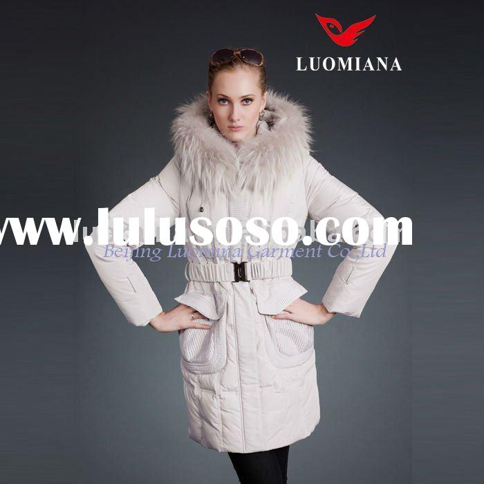 2012 Fashion European Women Winter Coat Down Padded