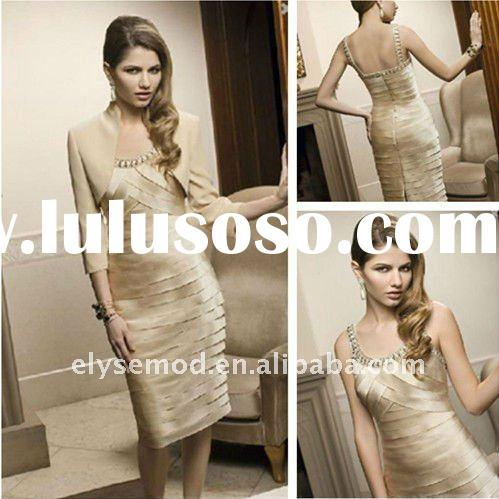 2012 New Style Knee Length Pleated Mother of Bride Suits