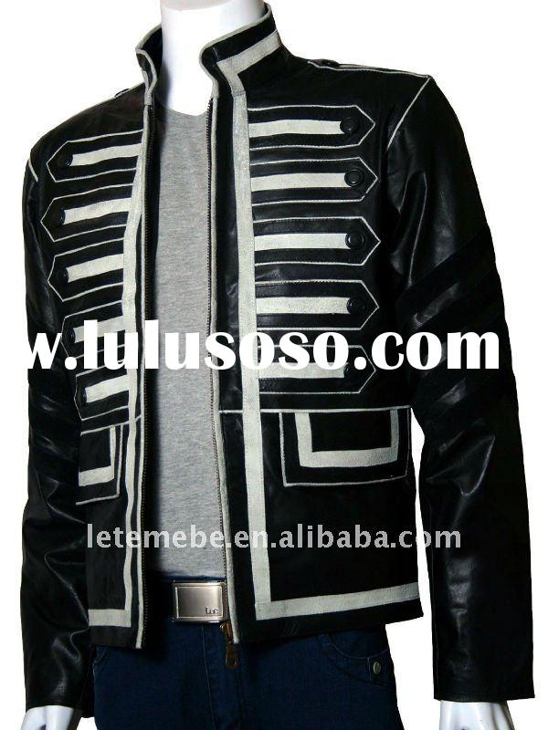 2012 New style Men's Military Style Biker Leather Jacket Ship with Fast and save shipping