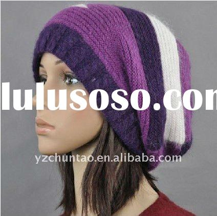2012 fashion knitting models and cap hat