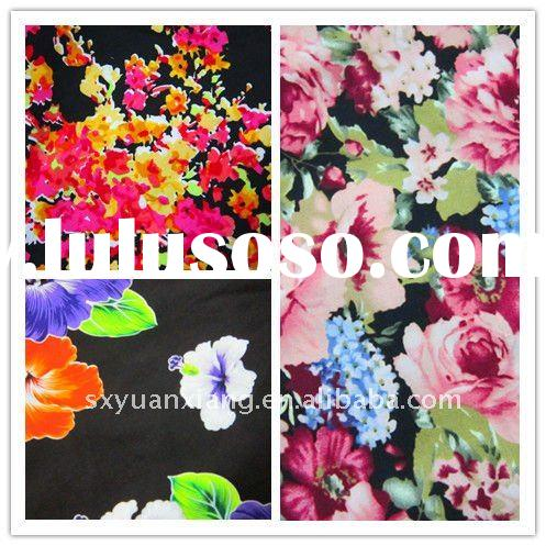 2012 hot sale flower design printed cotton textile