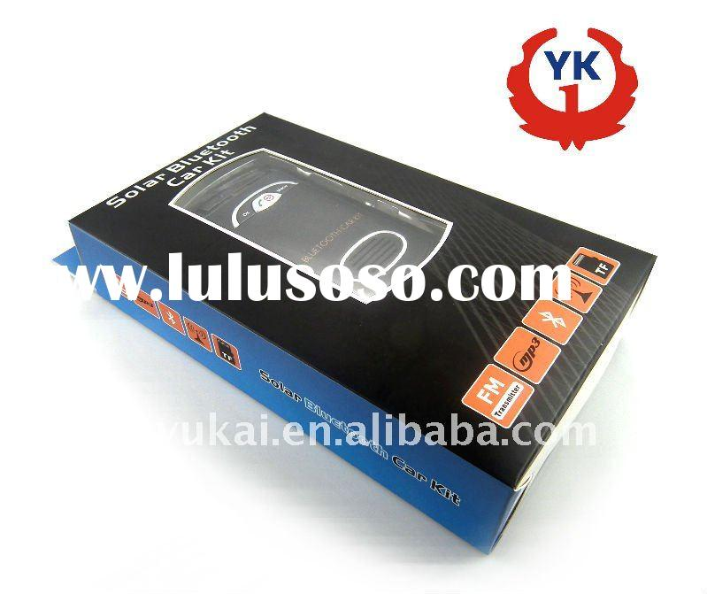 2012 hot selling solar bluetooth handsfree car kit on sunvisor and windowshielf