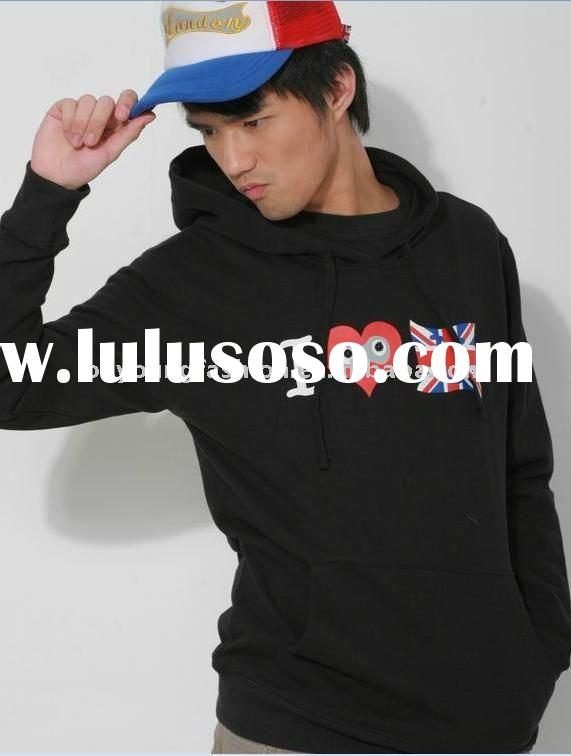2012 i love london olympic games printed style 100% cotton long shirt with hood hoodie
