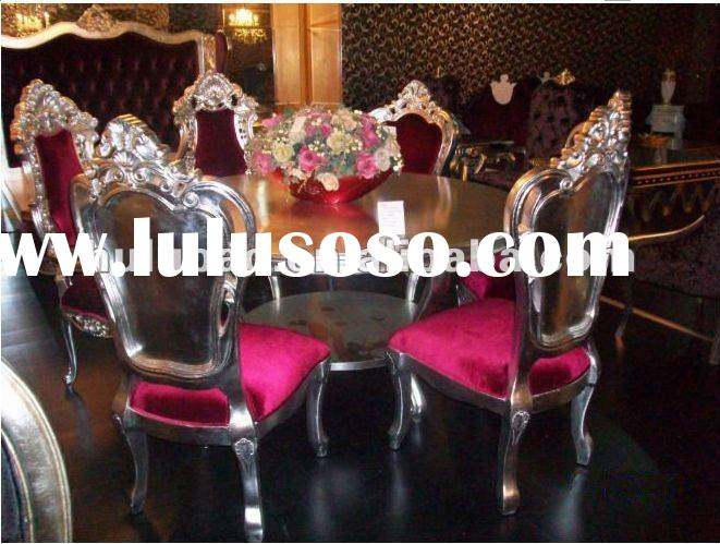 2012 new design hot selling high quality popular classical solid wood european style dining table se