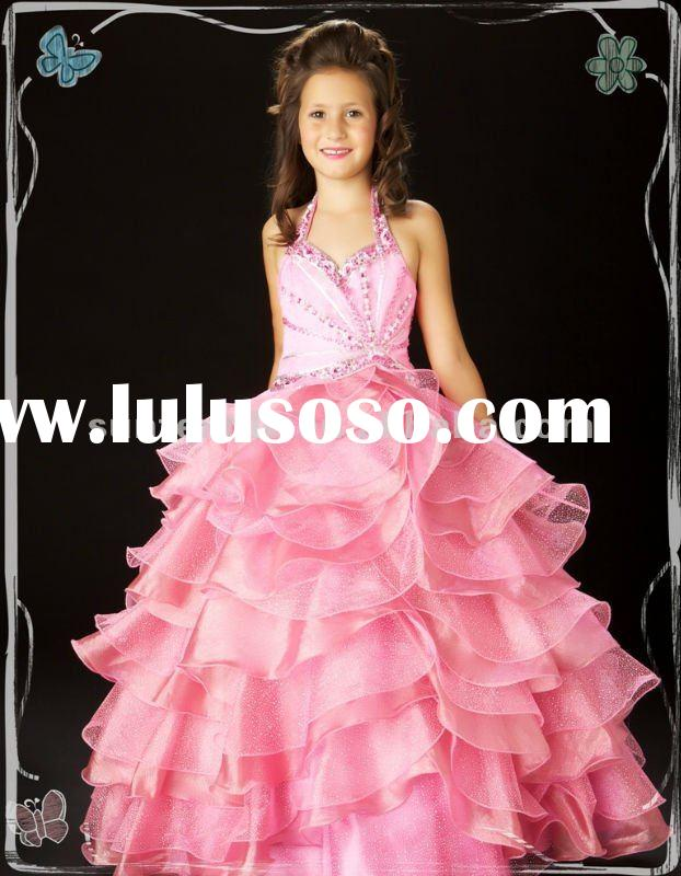 2012 new styles flower girl pageant dresses