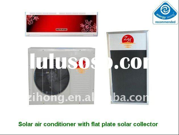 24000Btu split type hybrid solar air conditioner with flat plate solar collector