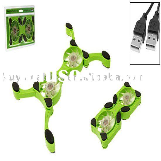 2 Fans Notebook mini USB Cooling Pad Cooler