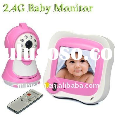 3.5 Inch Pink Lovely Wireless Baby Monitor With Night Vision