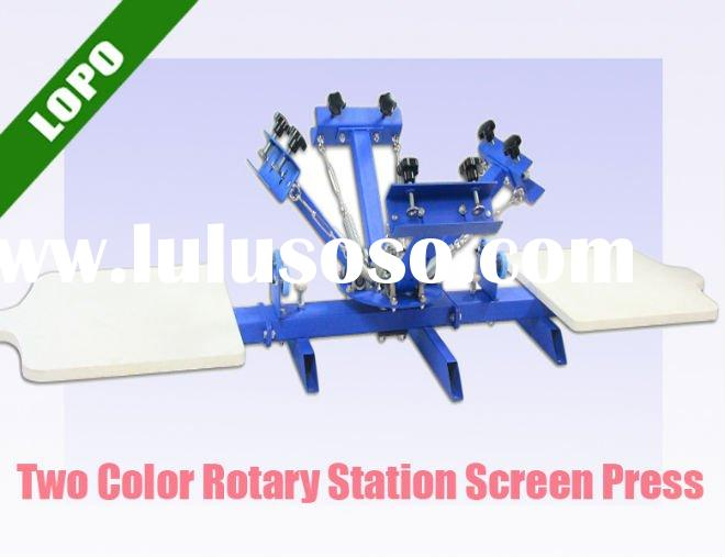 4 Color 2 Station Rotary Screen Printing Machine