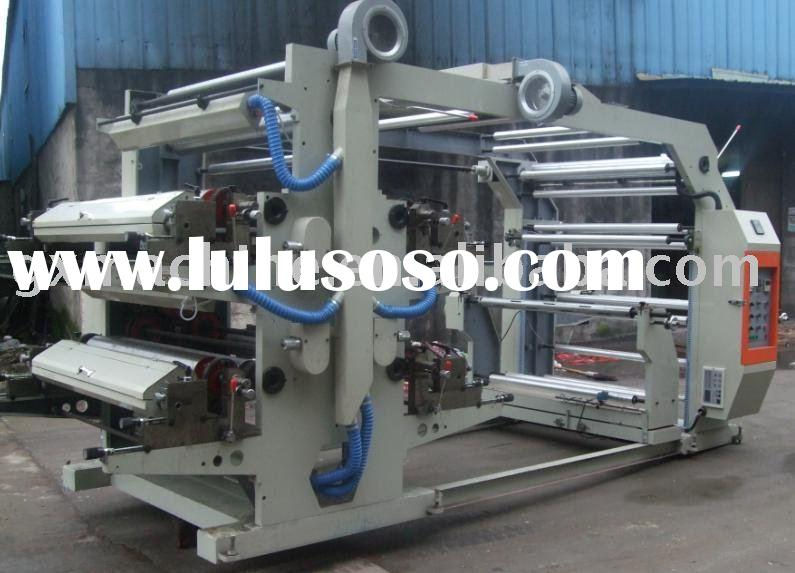4/four colors PE bag roll flexo printing machine