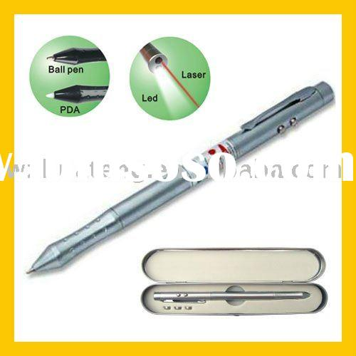4 in 1 PDA stylus LED torch with red laser pen