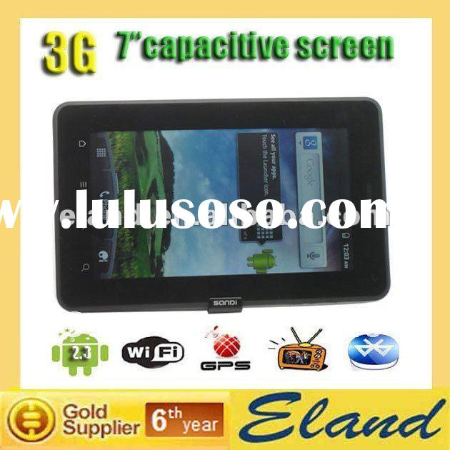 7 inch capacitive big touch screen 3G phone WG1107 MTK 6573 GPS WIFI TV android table