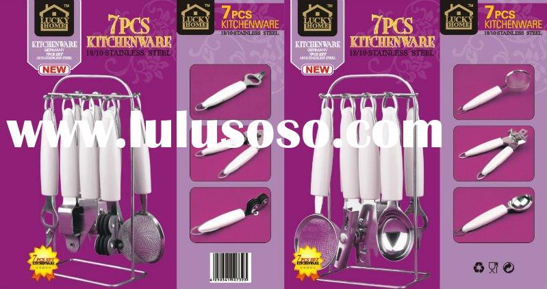 7 pcs kitchen tool set with PP block/small kitchenware