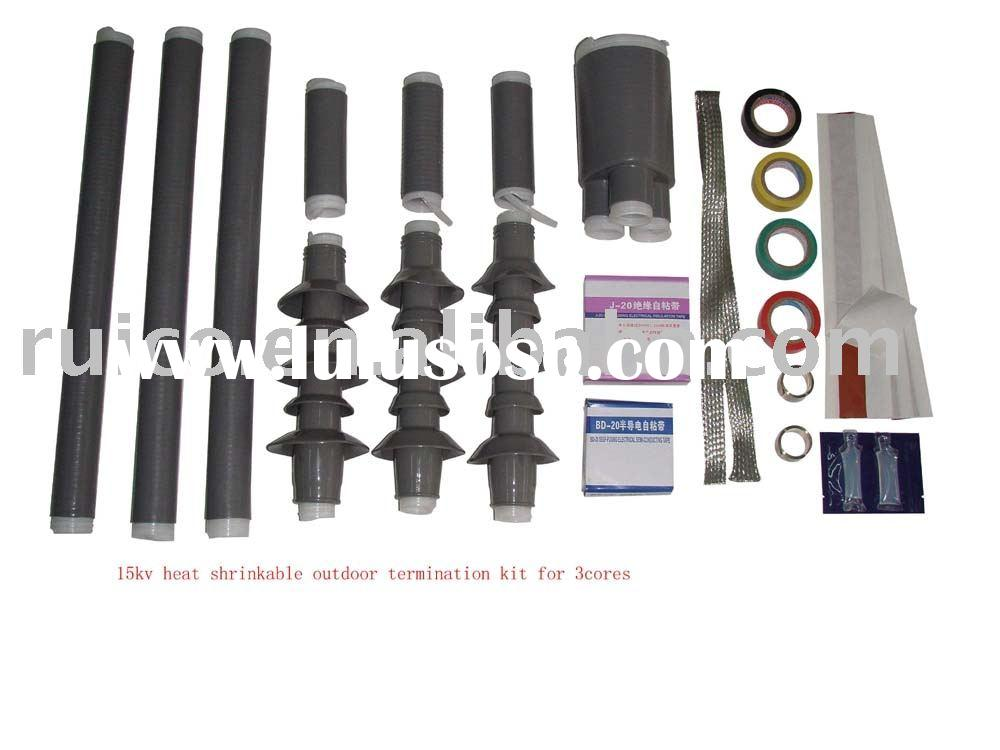 Cold shrinkable outdoor termination cable termination for Terminal exterior 15 kv