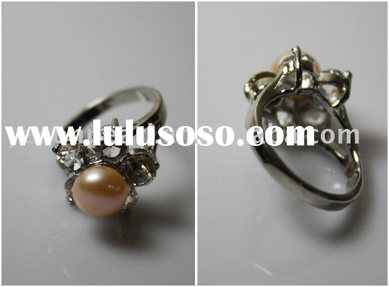 925sterling silver fashion freshwater pearl ring