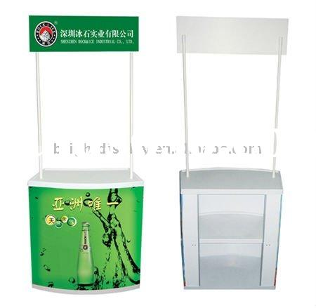 ABS plastic folding promotion table, promotion counter for adertising for sales