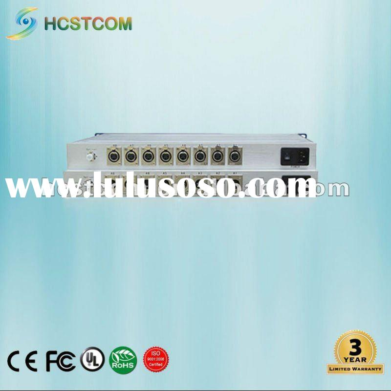 AES/EBU Digital Audio Fiber Optic Transmitter and Receiver