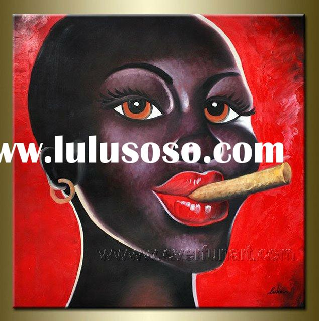 African Figurative Canvas Painting