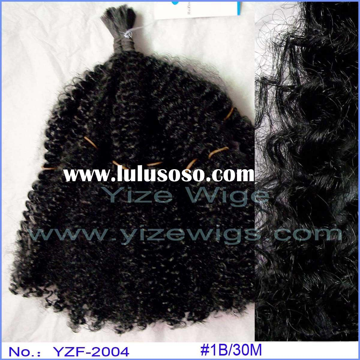 Afro style super curly hair extension hair product F38
