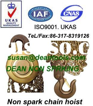 Anti spark Chain Hoist, Non sparking safety tools