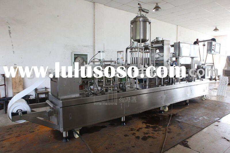 Automatic plastic cup forming filling sealing cutting machine/Cup Filling Line