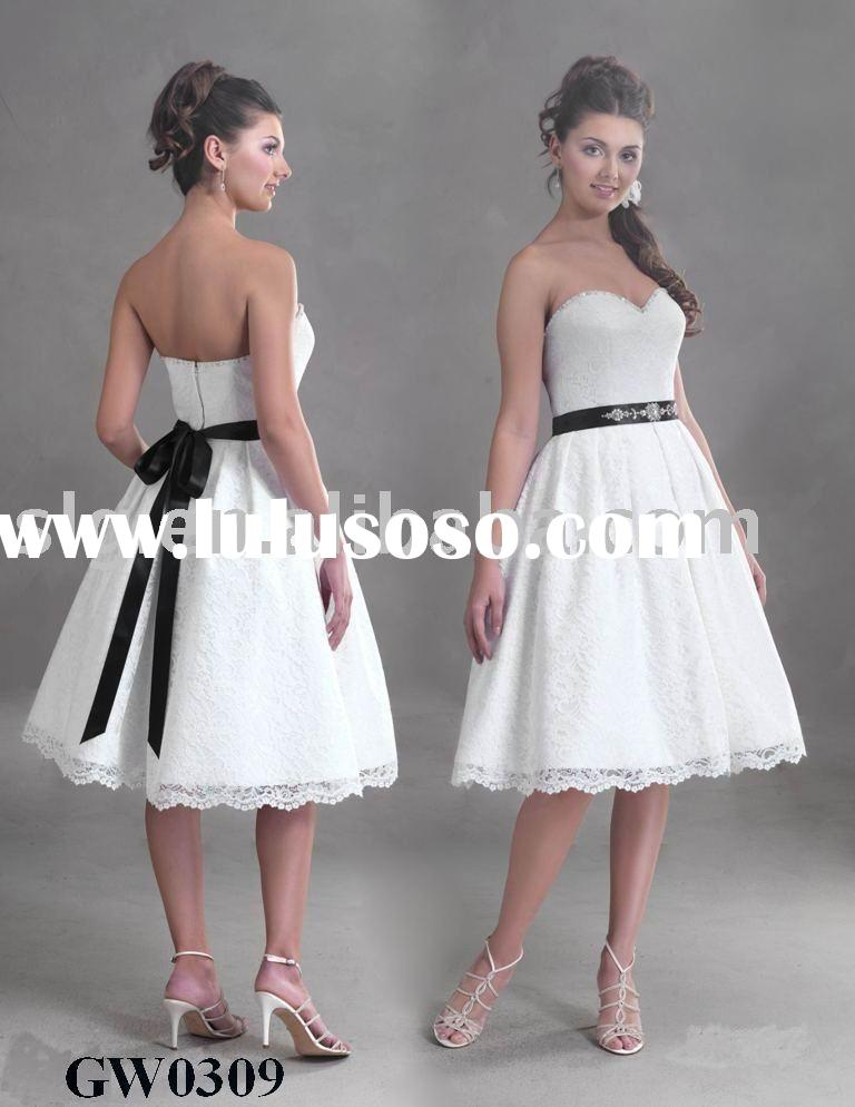 Babydoll style is a knee length gown of Lace and Imperial satin
