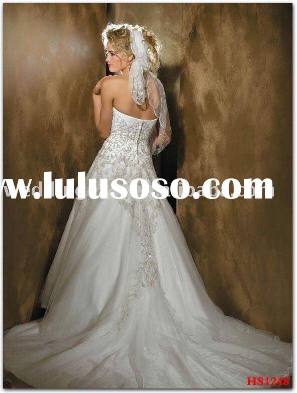 Ball Gown Strapless Sleeveless Beaded Lace Charmeuse HS1248