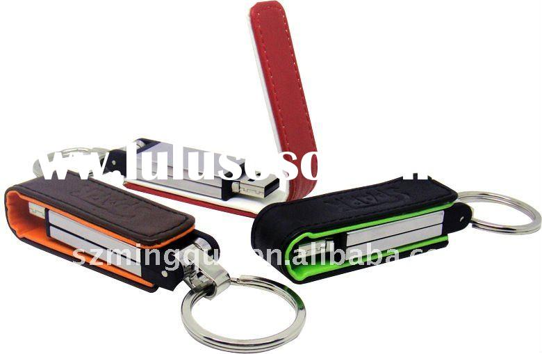 Best selling 4GB leather USB stick
