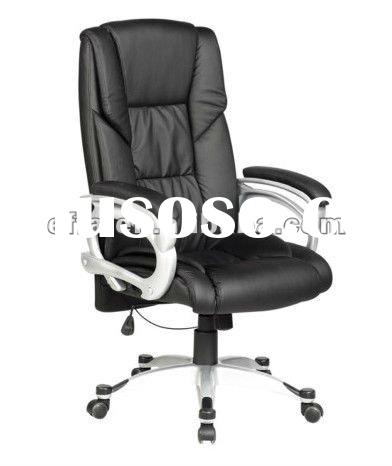 Black PU Leather High Back Executive Computer Ergonomic Office Chair