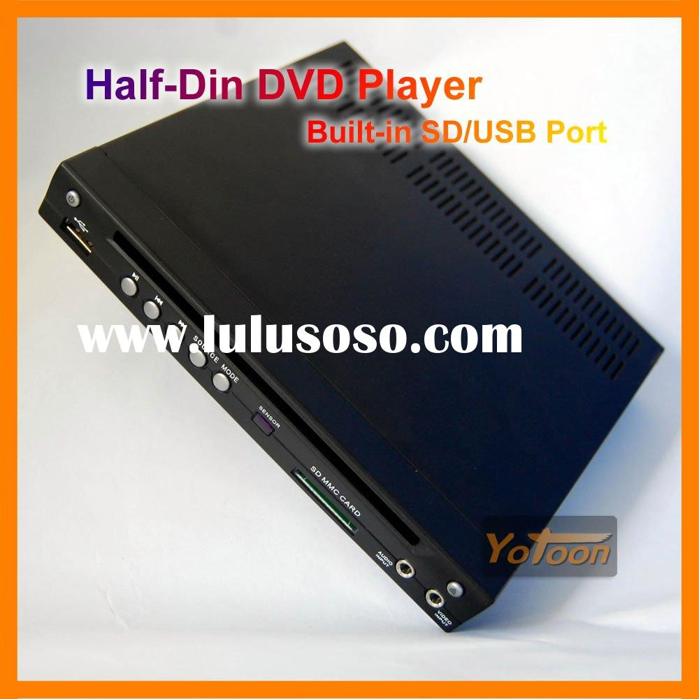 Car Half-DIN In-Dash DIVX/MP3/CD/DVD Player+USB/SD Slot