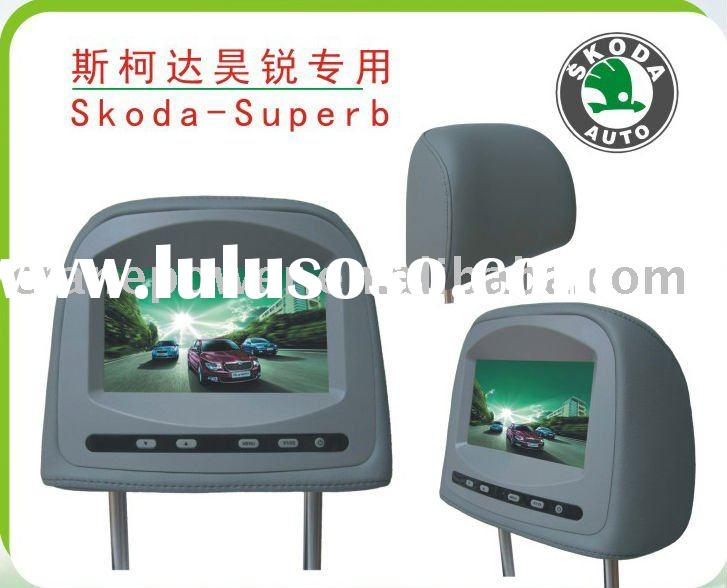 Car Headrest TFT Monitor WITH MP3,MP4,game function for SKODA-SUPERB DVD AUDIO