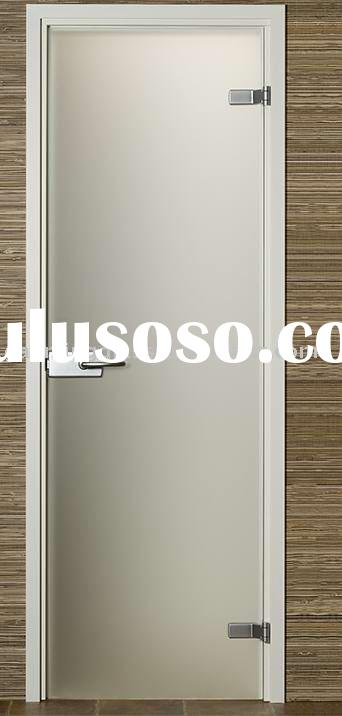 Clear Frosted Tempered Glass Door