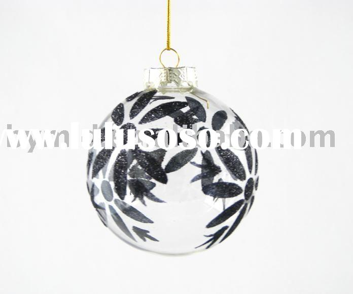 Clear Glass Christmas Ball Ornament