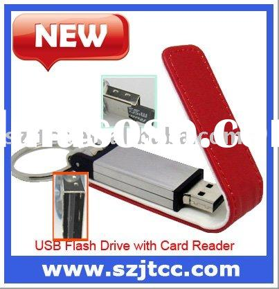 Colorful Leather USB 16GB with Memory Card Readers