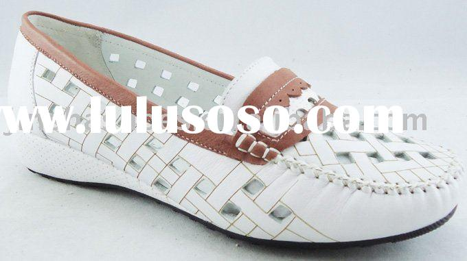 Comfortable woman casual leather shoes