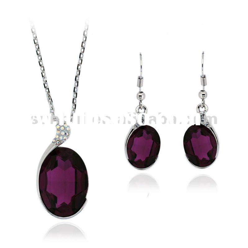 Crystal Necklace and Earring Set Fashion Jewellery