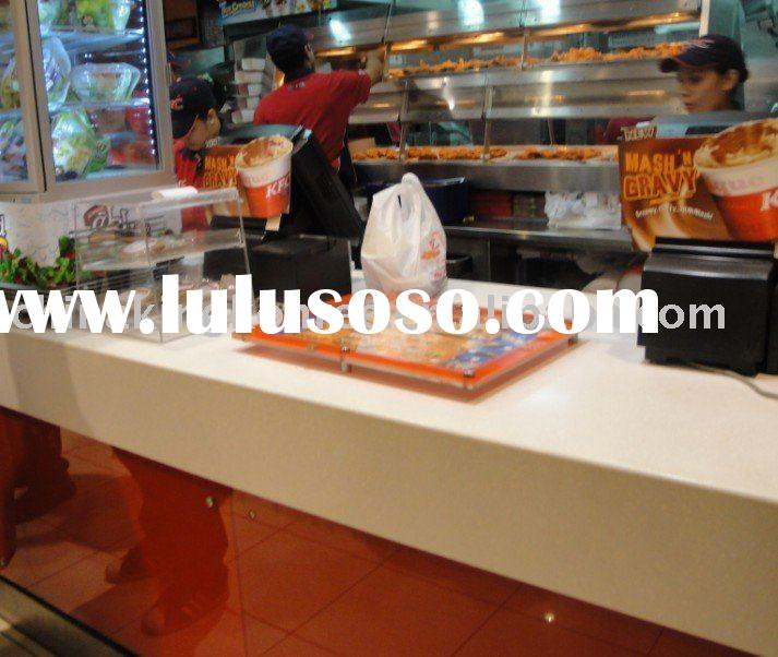 Customized Solid Surface Restaurant Reception Desk Top