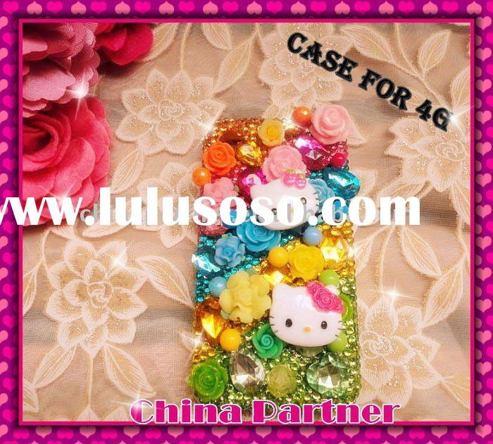 DIAMOND HELLO KITTY CRYSTAL BLING CASE /CAVER FOR IPHONE 4 4S