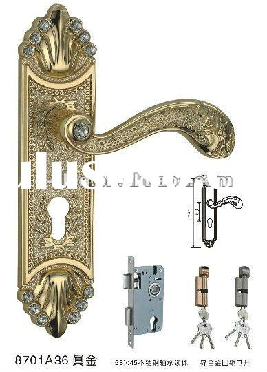 Diamond Europe style zinc alloy handle door lock