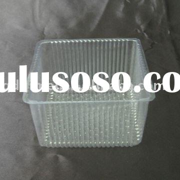 Disposable Biodegradable Blister Clear PET Plastic No-harm Non-toxic Clamshell Tasteless Biscuit Cak