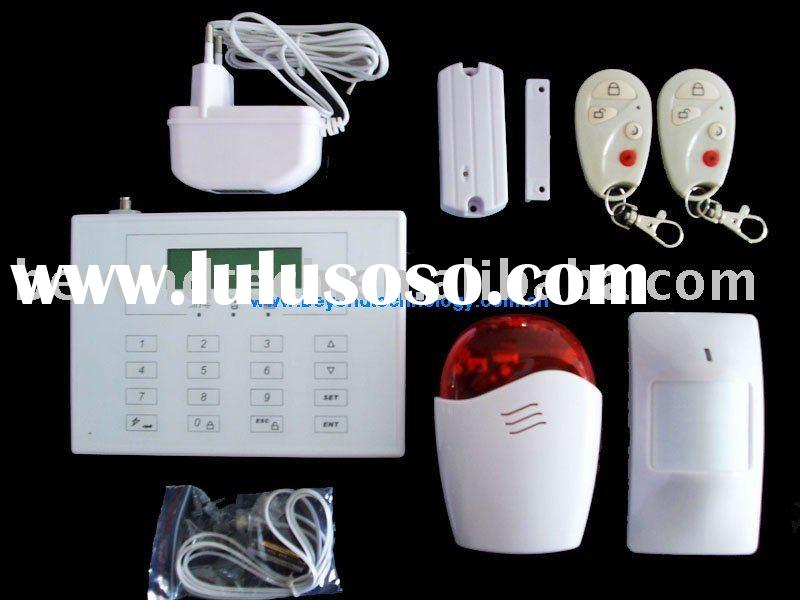 Dual network home alarm gsm wireless system with wireless doorbell