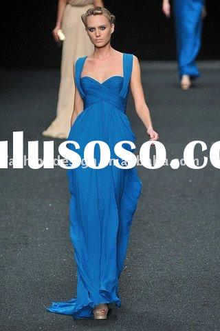 ES1000 2011 elegance fashion stage blue chiffon evening dress