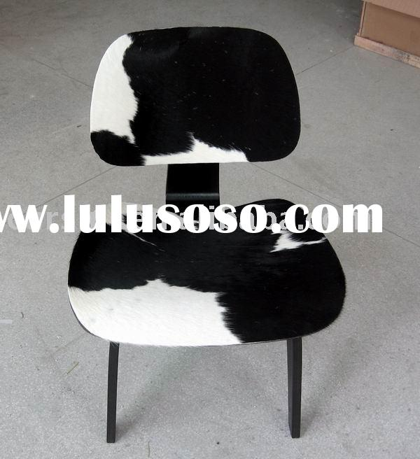 Eames plywood lounge chair/ Leisure chair/Wooden Legs/Pony Hide