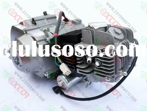 Electric start motorcycle engine