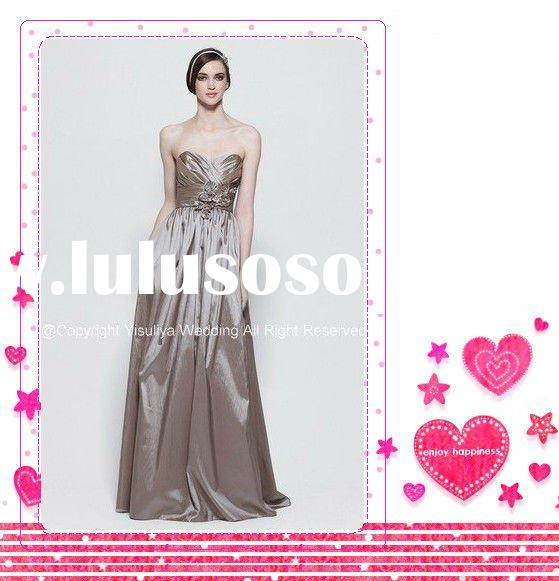 Elegant Strapless Sweetheart Floor-length Bridesmaid Dress